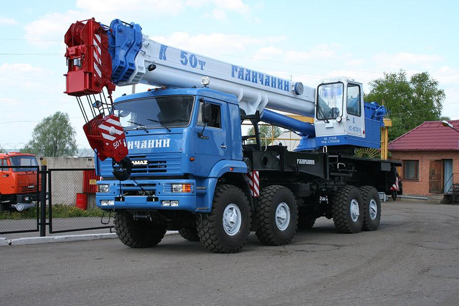 заказать автокран 50 тонн в Перми